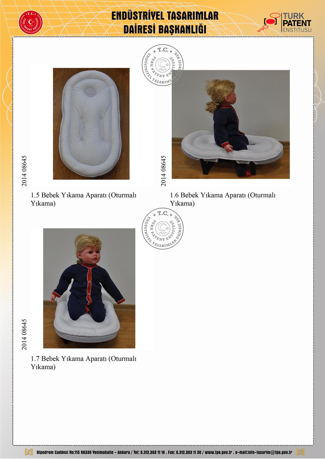 Seyyar Bebek Banyo Hamağı Patent 2