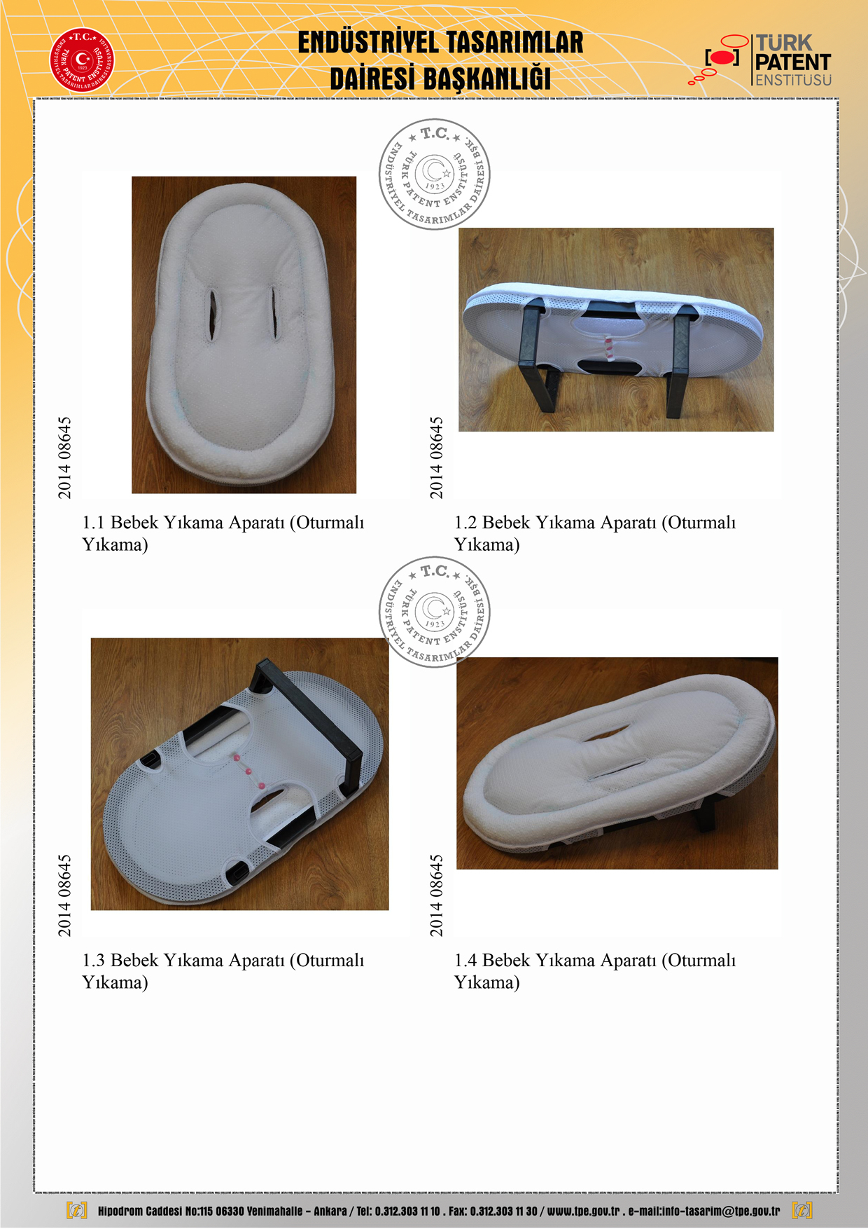 Seyyar Bebek Banyo Hamağı Patent 3