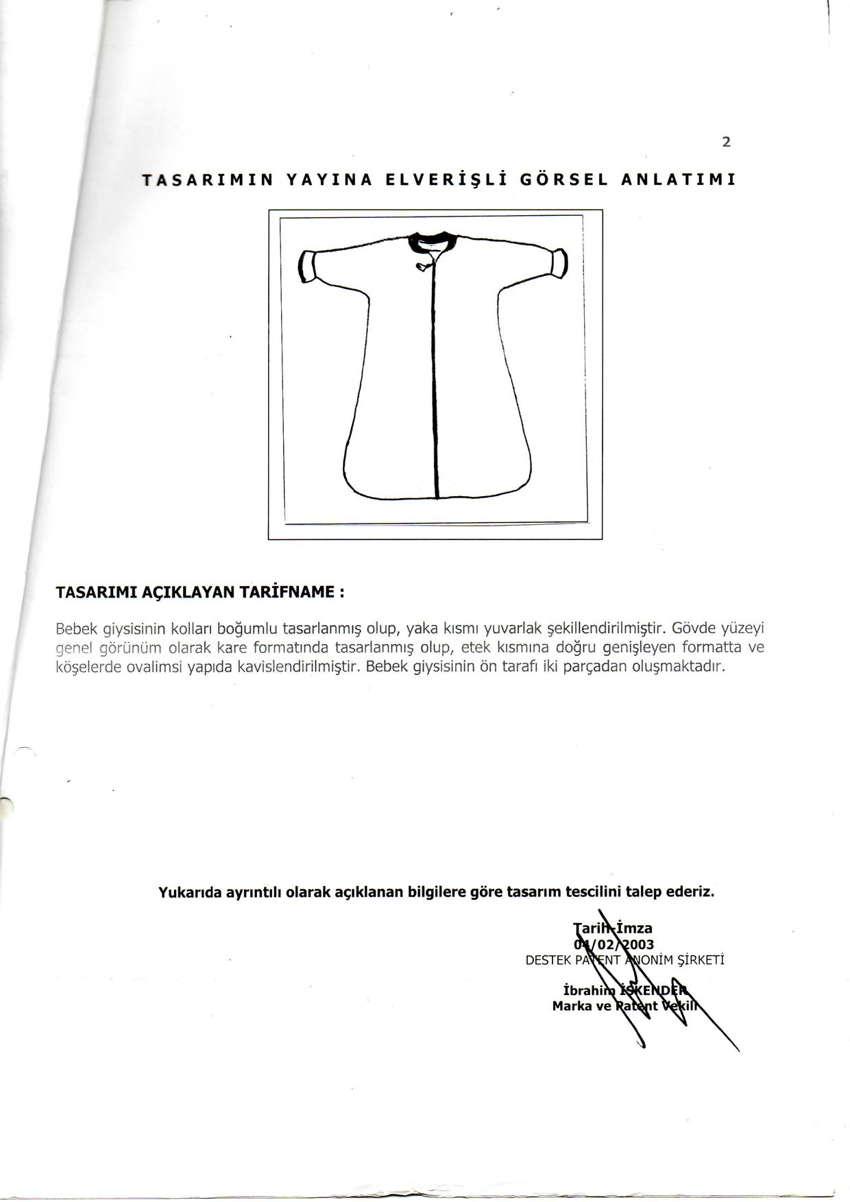 Kundak Havlu Patent 3