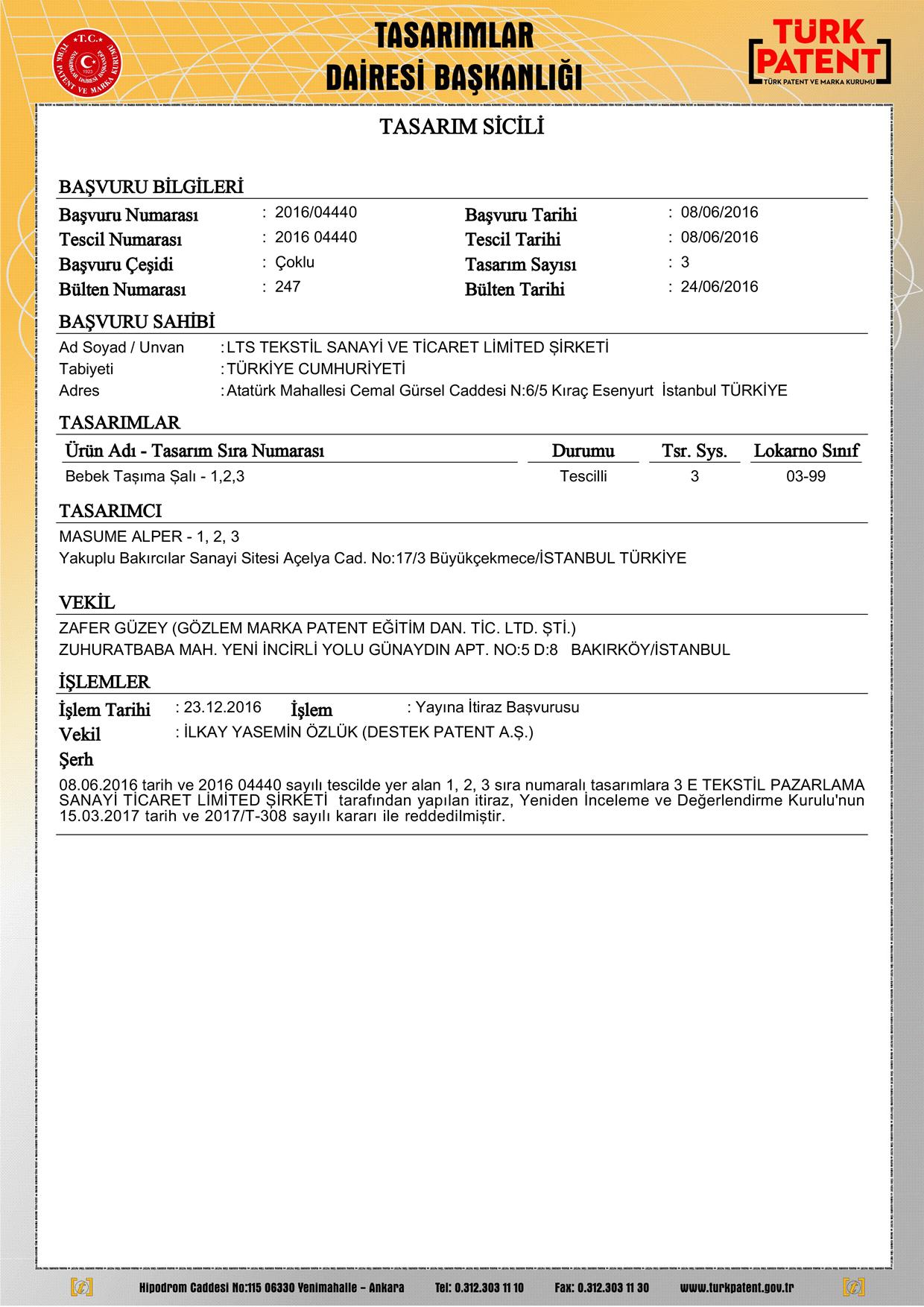 Bel Destekli Sling Patent 2