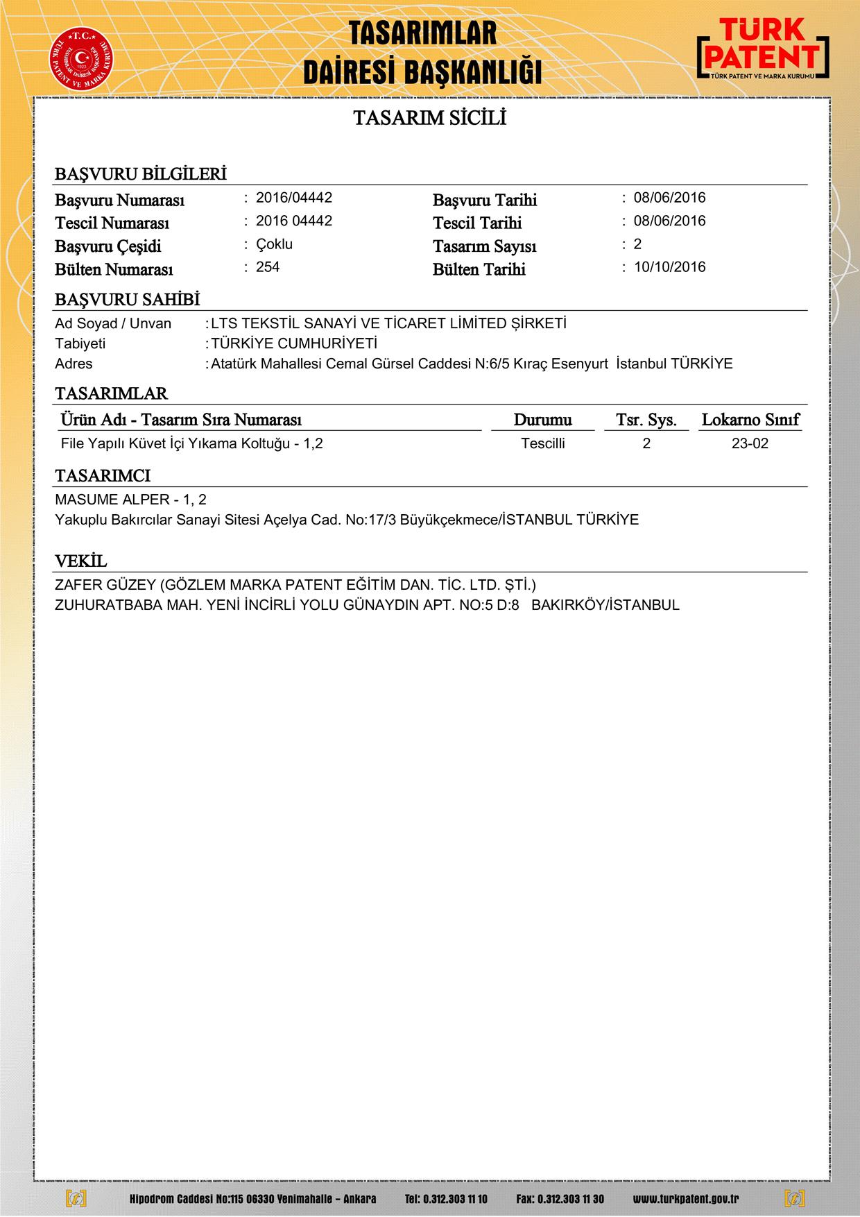 Bebek Yıkama Filesi Patent 3
