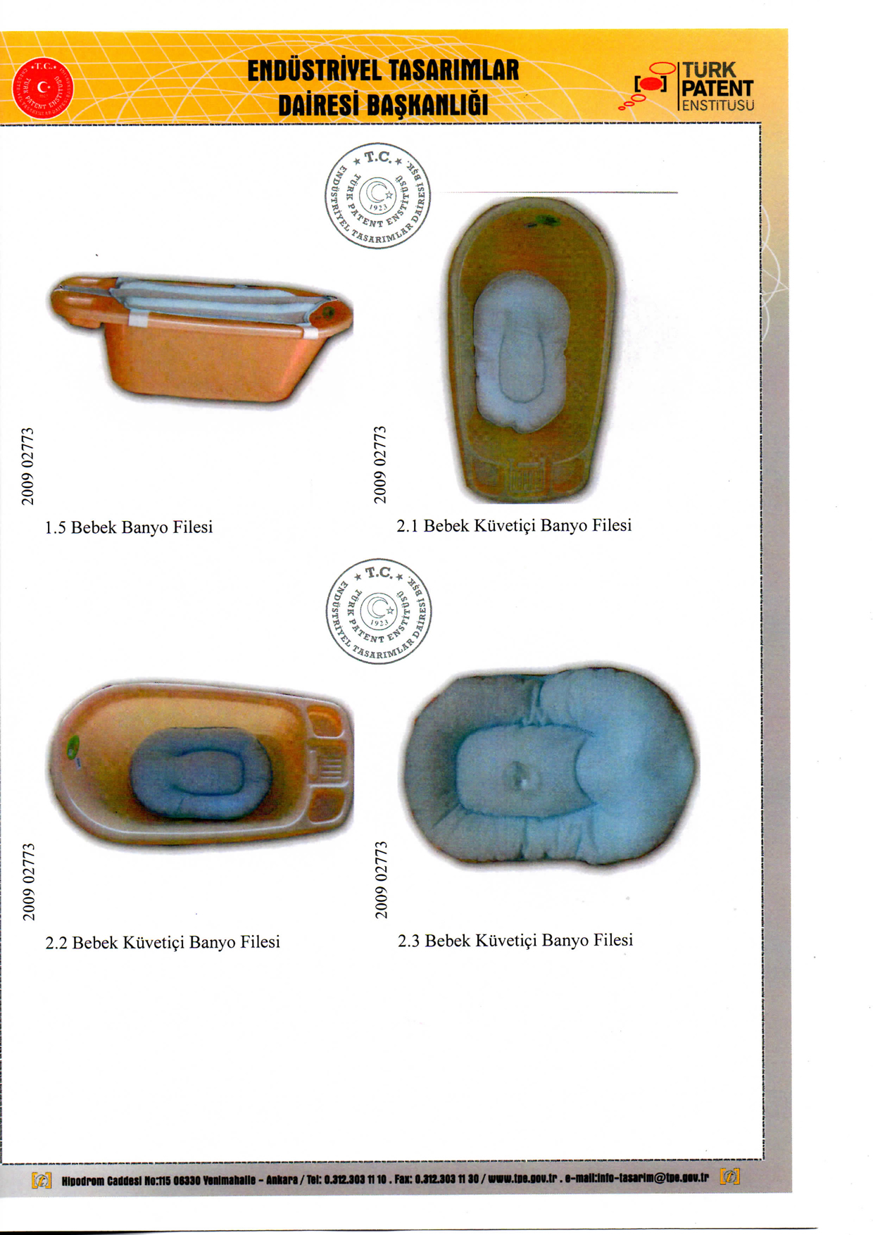 Bebek Banyo Minderi Patent 4