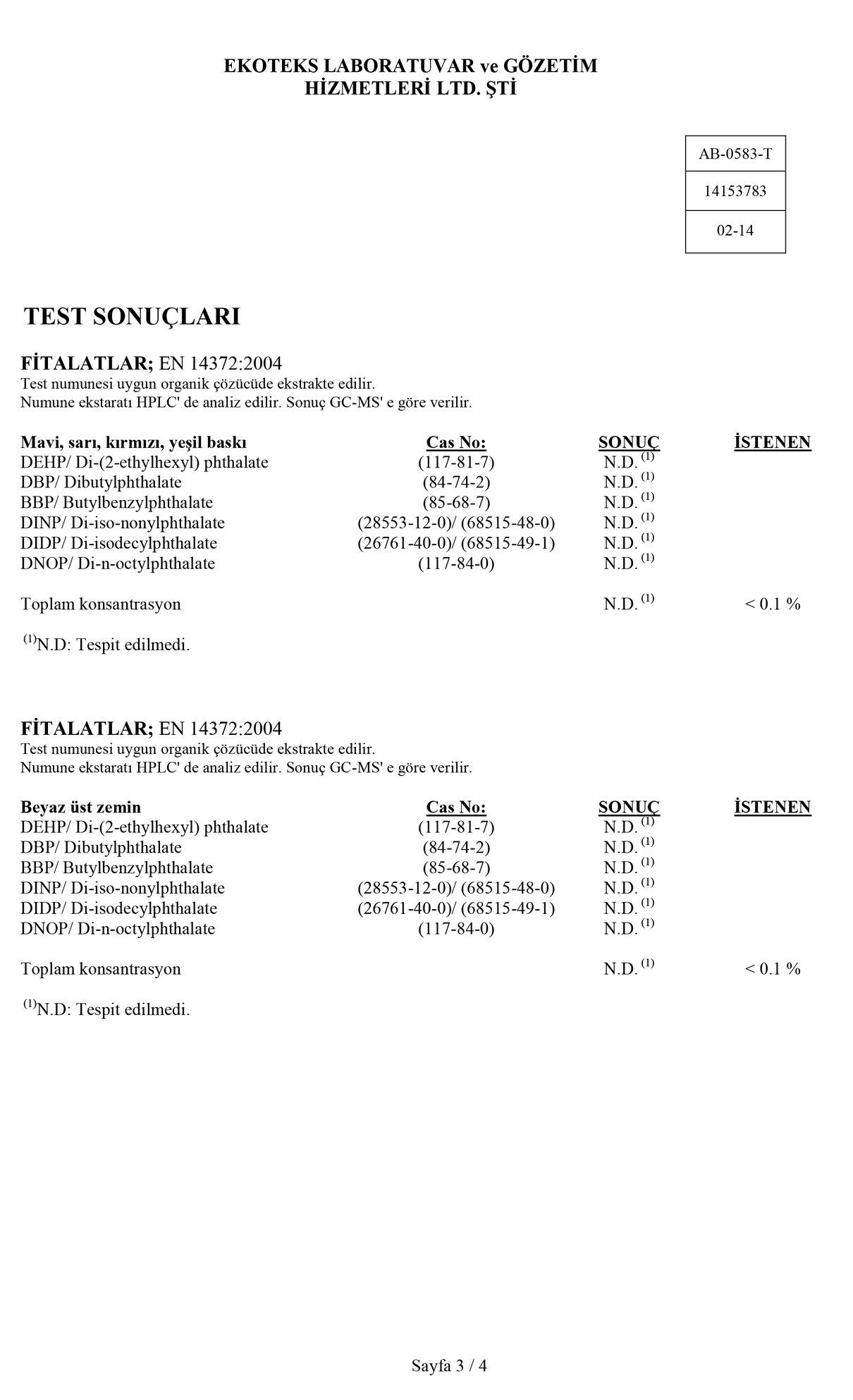 Klozet Adaptörü Test Raporu 3