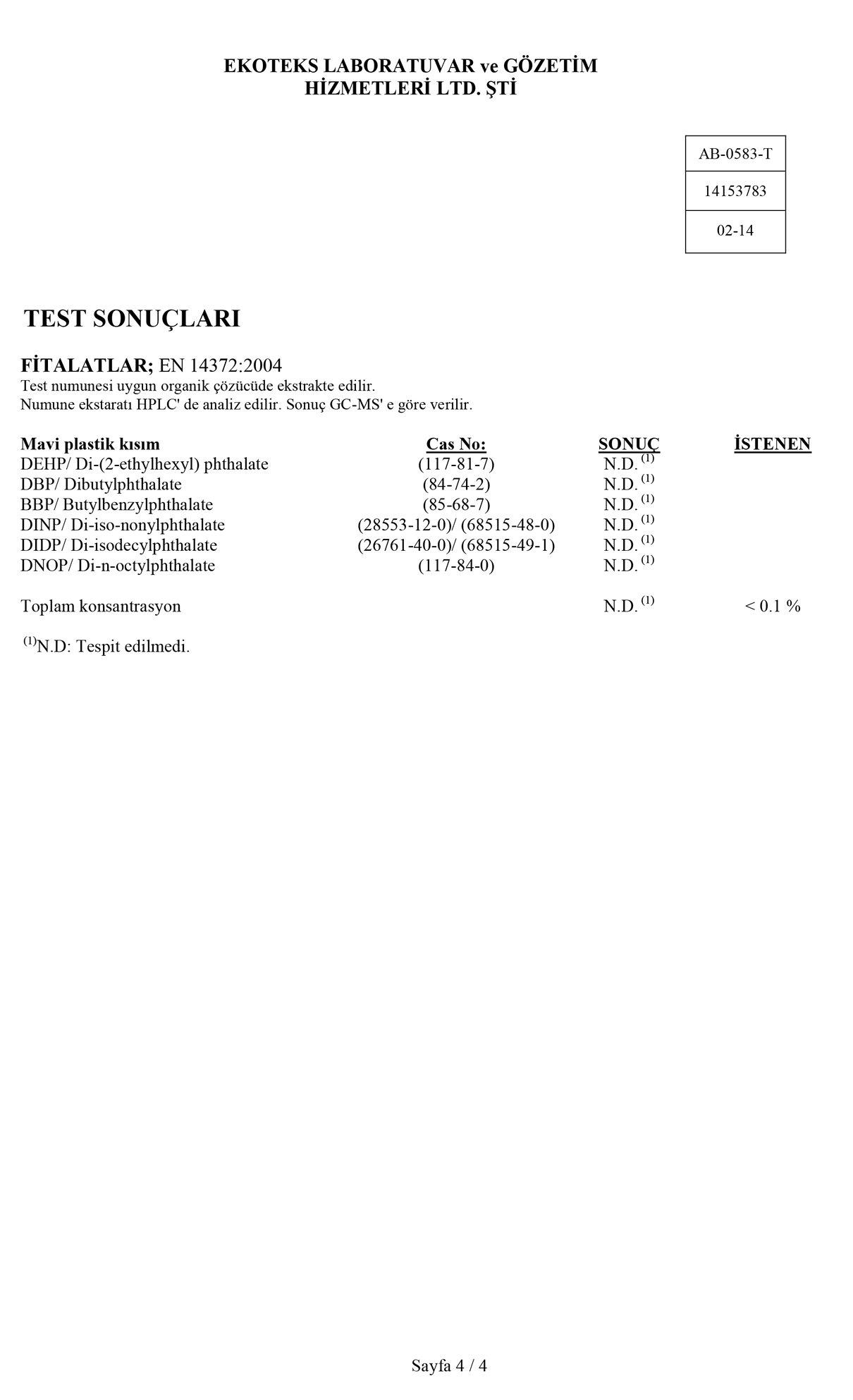 Klozet Adaptörü Test Raporu 4