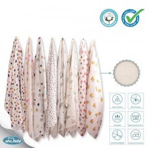 Patterned Muslin Blanket 120 x 120 cm