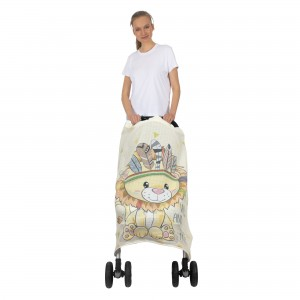Placement Printed Muslin Stroller Cover
