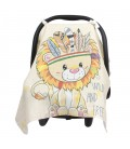 Placement Printed Muslin Infant Car Seat Cover