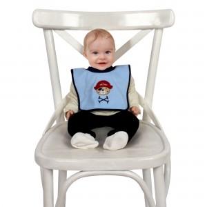 Yakalı Havlu Bebek Mama Önlüğü