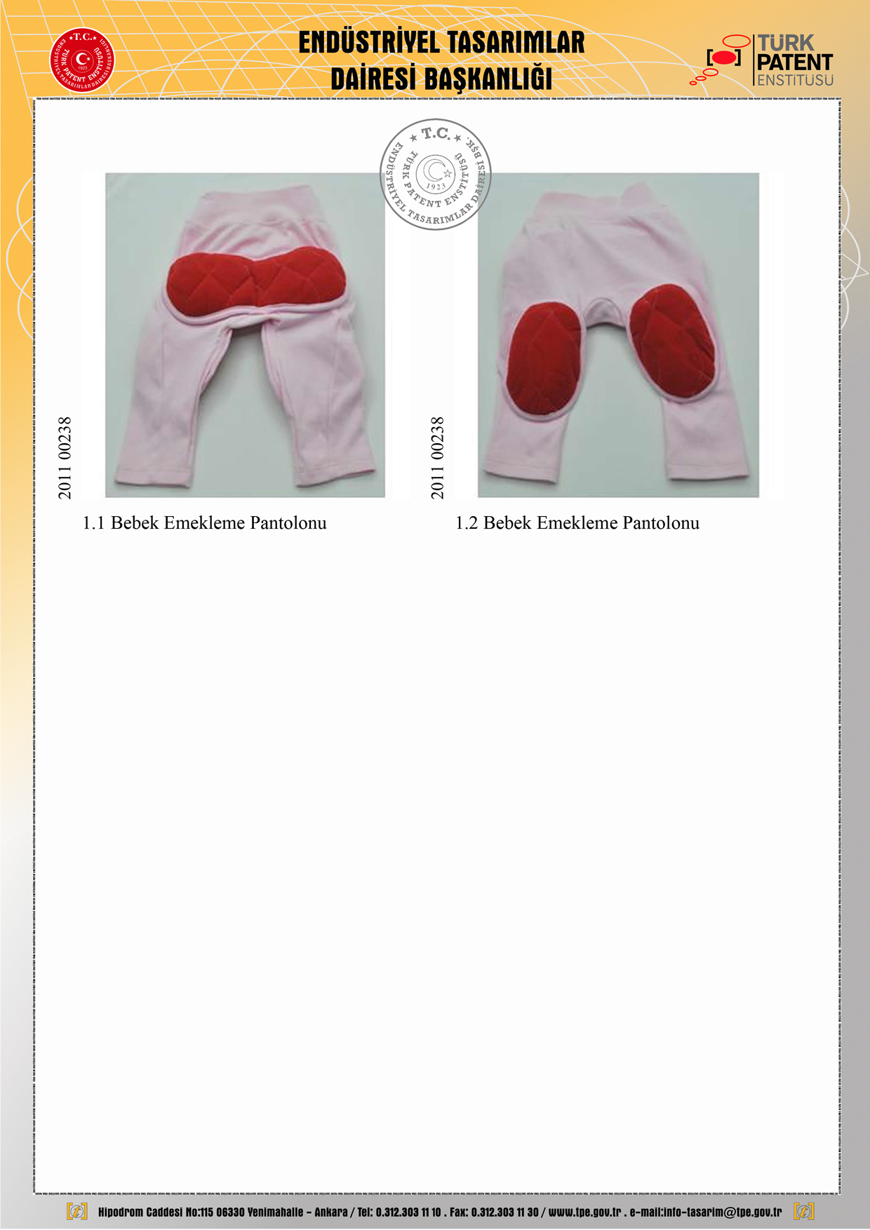 İlk Adım Pantolonu Patent 2