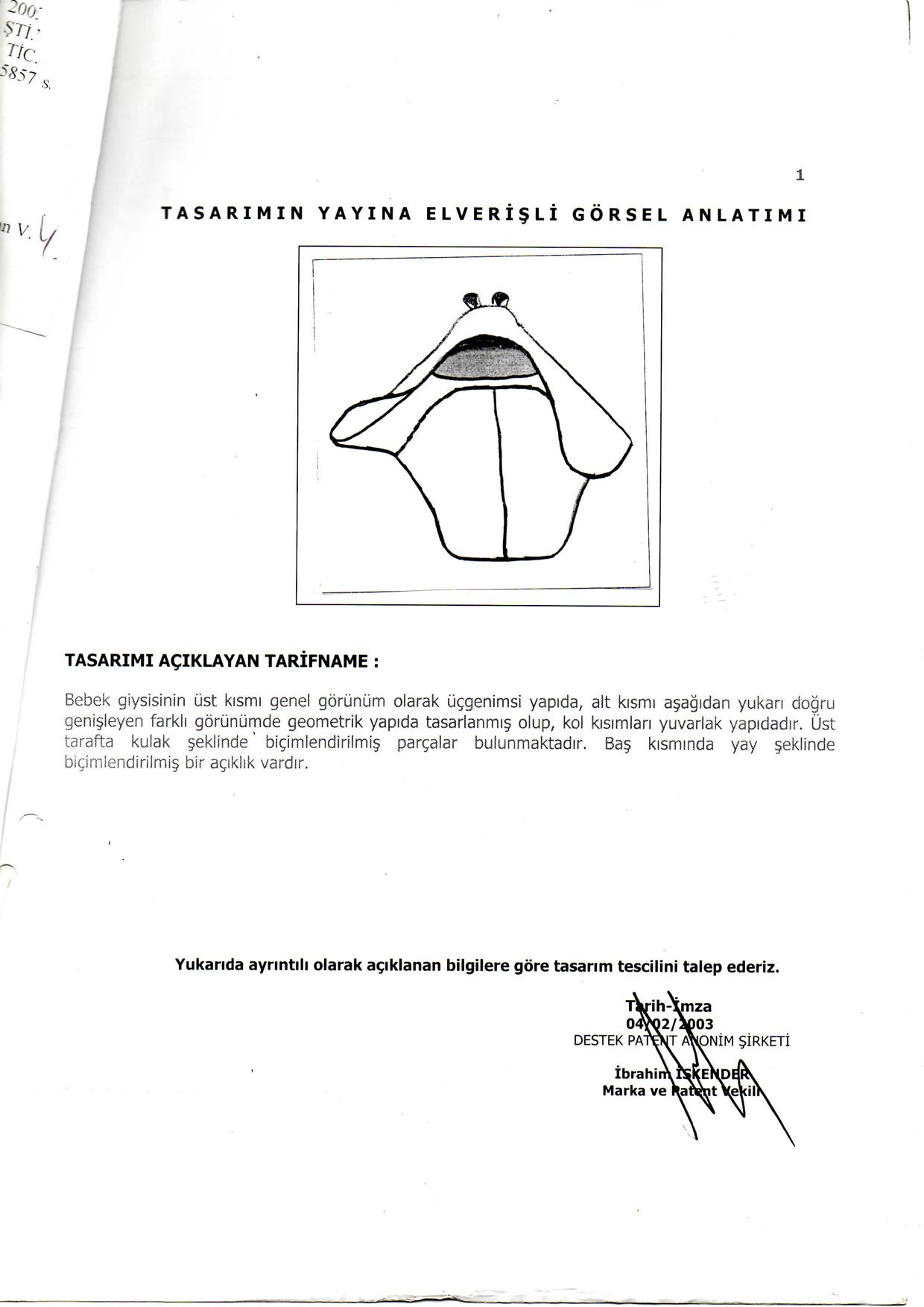 Kundak Havlu Patent 2