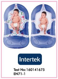 Çok fonksiyonlu Bebek Yıkama Filesi Intertek Test Raporu