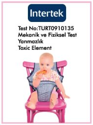 Kumaş Mama Sandalyesi Test Raporu